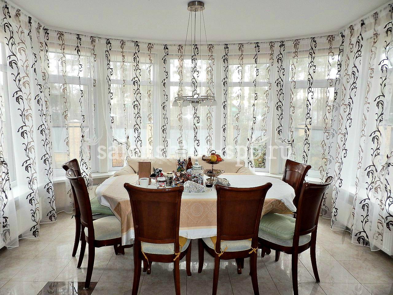 шторы для кухни эркер фото лучший планете